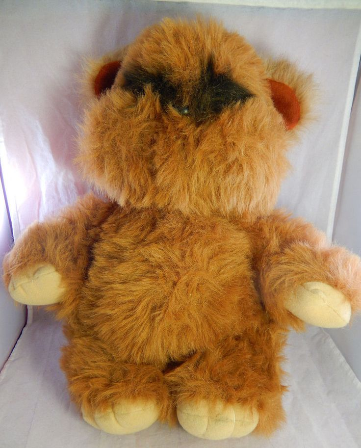 "Vtg KENNER Star Wars 15"" Stuffed Toy ROTJ Wicket the Ewok 1983 Lucasfilm no Hood"