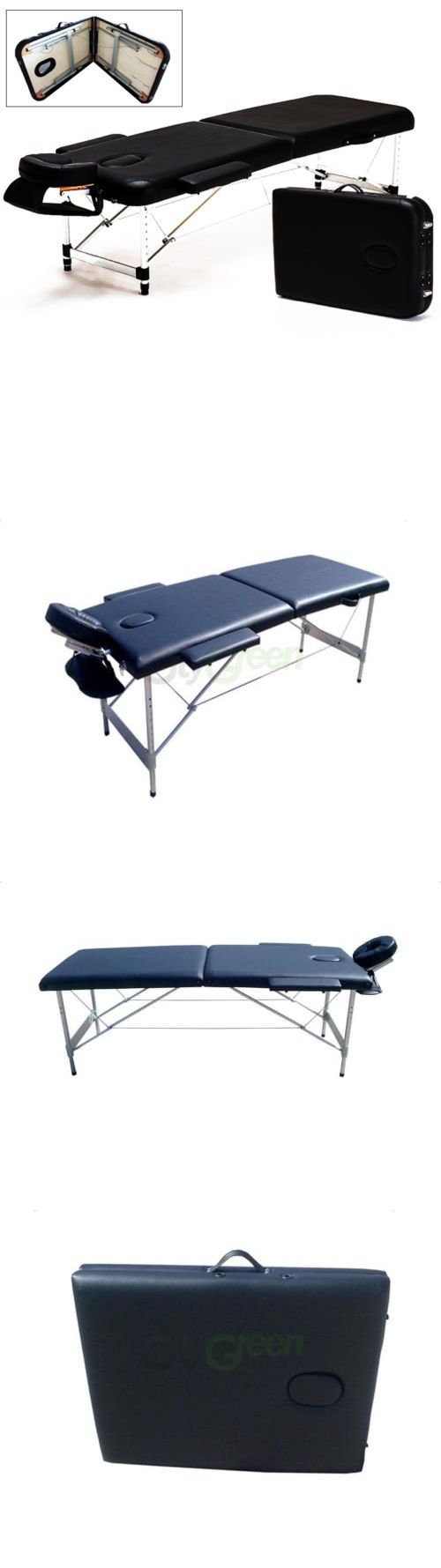 Massage Tables and Chairs: Portable 2 Fold Aluminum Massage Table Salon Spa Bed Facial Tattoo W Carry Case -> BUY IT NOW ONLY: $79.9 on eBay!