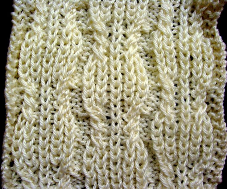 BRIOCHE CABLES KNITTING PATTERN TUTORIAL