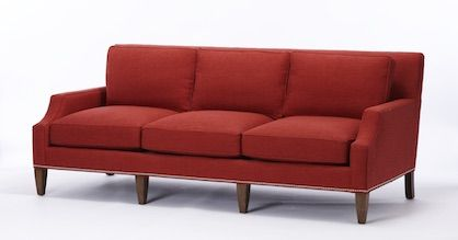 Calico Poe Sofa in Horizon-Chili Crypton fabric