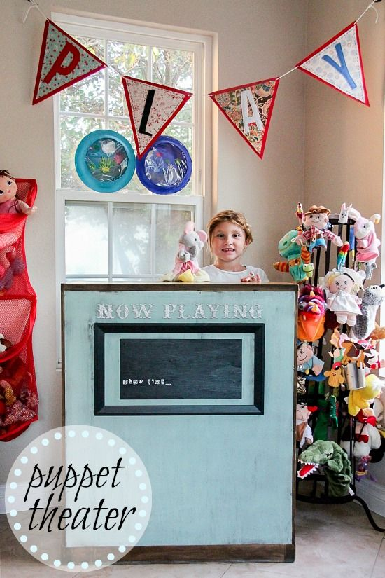 DIY puppet theater for kids and a fabulous puppet stand