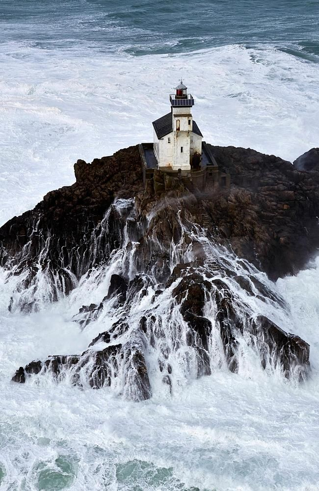 The infamous lighthouse of Tevennec, located off the Pointe du Raz in Brittany, France.