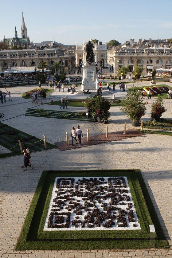 """A découvrir tous les ans en automne : """"les jardins éphémères"""" Nancy > Jardin éphémère 2011 et son code QR végétal"""