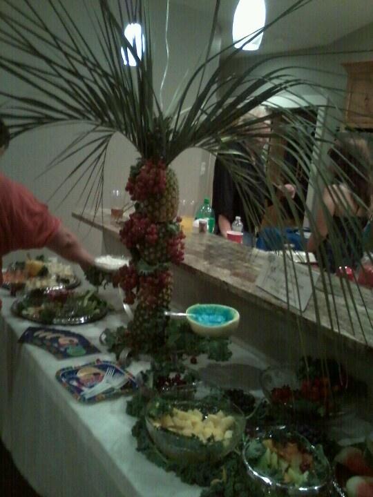 My pineapple palm tree masterpiece
