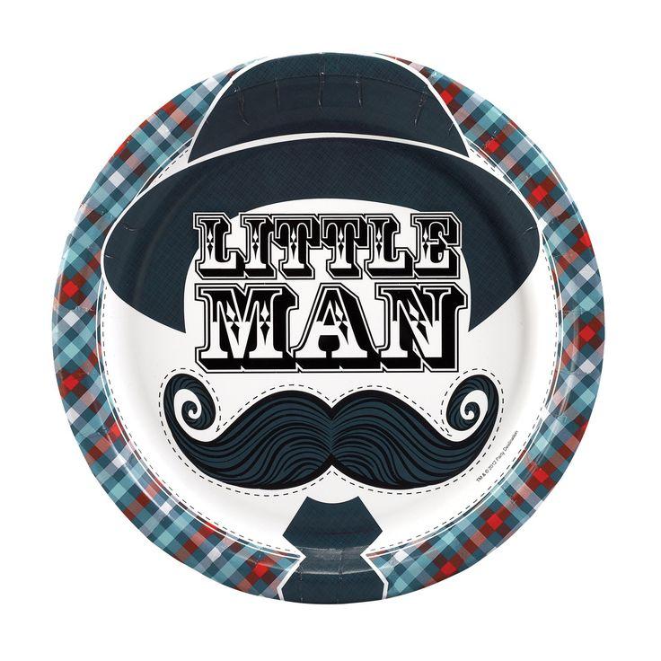 Little Man Mustache Dinner Plates Party Supplies  sc 1 st  Pinterest & 22 best little man party images on Pinterest | Men party Moustache ...