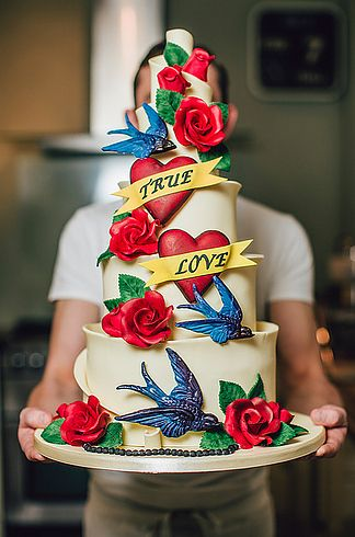 Inked Cake | 13 Rad Ideas For A Tattoo-Inspired Wedding