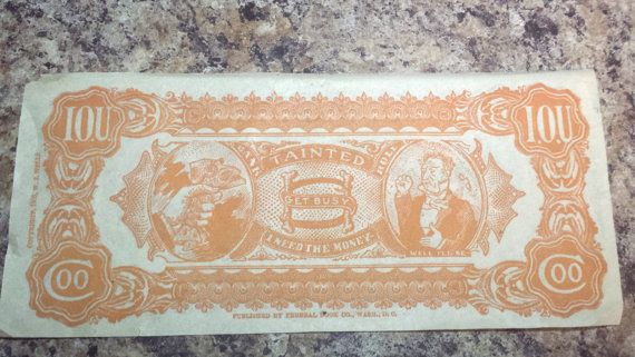 W. J. Wells 1905 I.O.U. Bank Note by VintageAndNotShoppe on Etsy