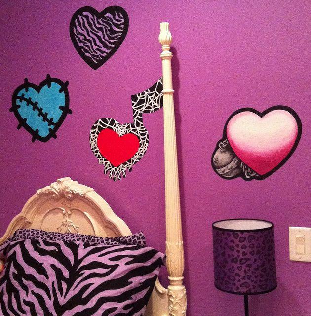 monster high bedroom ideas | Monster High Doll Wallpaper Art Sricker Mural Handmade Room Wall Decor ...