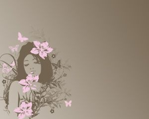 Free Nice Girl Free Power Point Template with sepia background