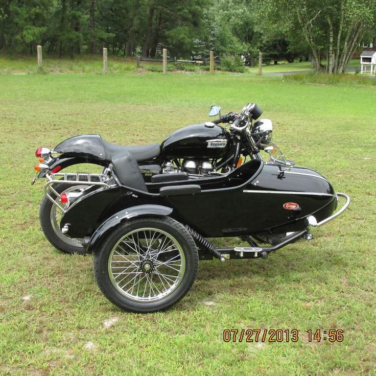2009 Triumph Thruxton with cozy rocket sidecar, US $11,995.00, image 3