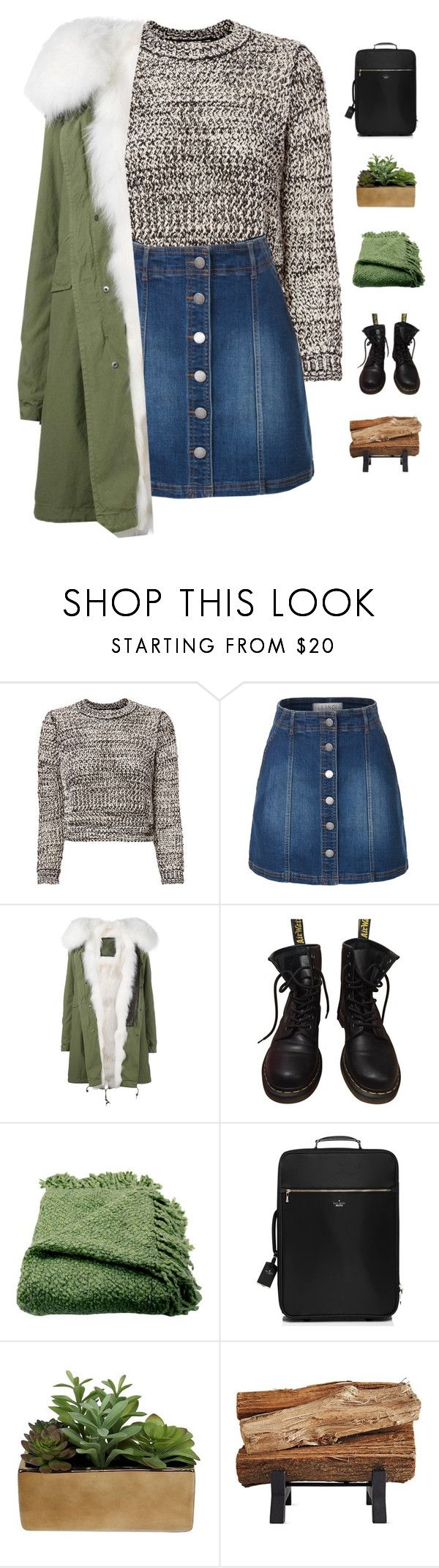 """Camp getaway"" by genesis129 ❤ liked on Polyvore featuring 10 Crosby Derek Lam, LE3NO, Mr & Mrs Italy, Dr. Martens, Woven Workz, Kate Spade, Threshold and vintage"