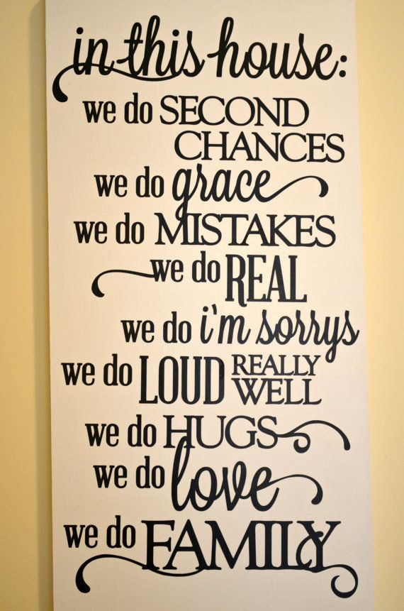In this house quote wooden sign we do real by spearcraft for Classic house quotes