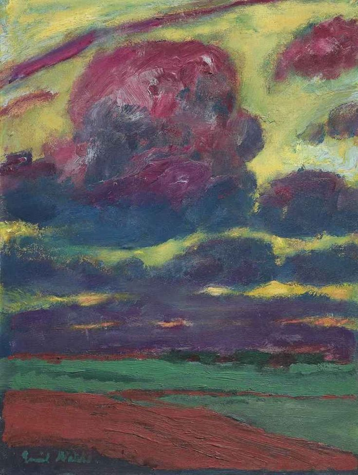 Emil Nolde (German, 1867–1956), Wolken [Clouds], 1918. Oil on canvas, 60.96 x 46.04 cm.