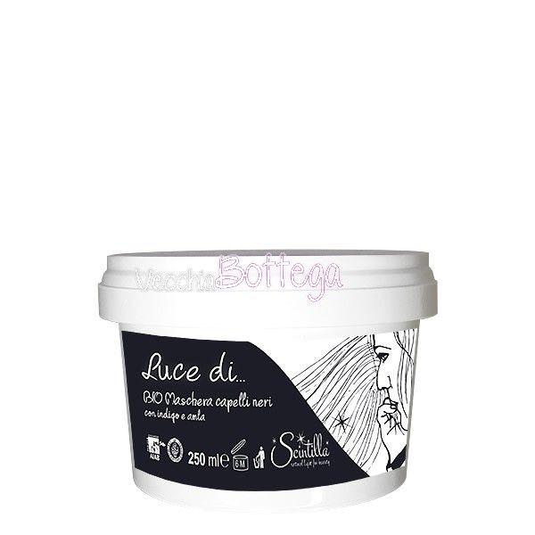 maschera per capelli di Scintilla Bio. Ideale per capelli neri. A base di indigo ed amla, dal lieve profumo di liquirizia. Il nero dei capelli risulta vivo e corposo. Aiuta ad aumentare la brillantezza dei capelli neri. Ideale anche per ravvivare il colore dell'hennè ( hennè nero, indigo etc) precedentemente applicato. #scintillabio #vecchiabottega #indigo #hennenero #acquistionline http://www.vecchiabottega.it/maschera-capelli-neri-scintilla-bio.html