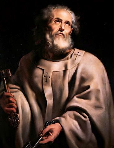 St. Peter (Simon Peter, the apostle), the chief of the Apostles and the head of the church. He was also brother to Andrew.