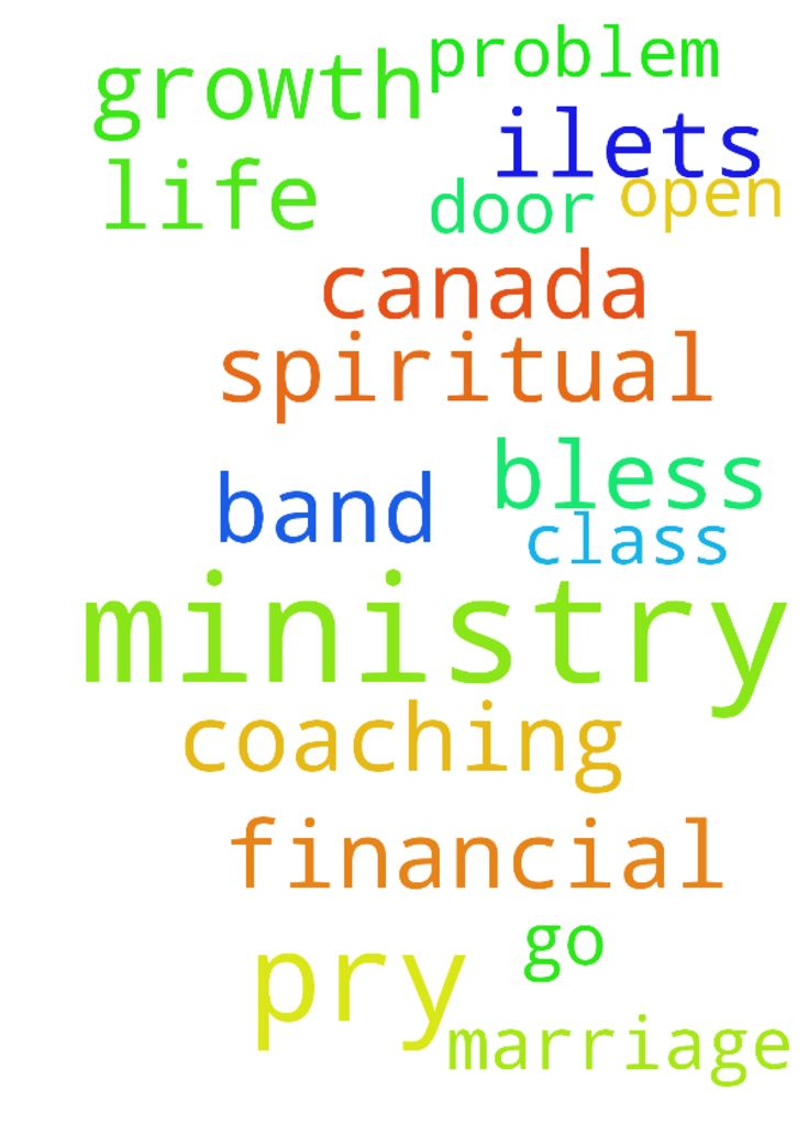 Please pray for me I m doing ministry . - Please pray for me I m doing ministry . pry for my ministry growth and my spiritual life. I am Ilets coaching class I need 7 band to go Canada and pry for my marriage financial problem God bless me open his door  Posted at: https://prayerrequest.com/t/vbF #pray #prayer #request #prayerrequest