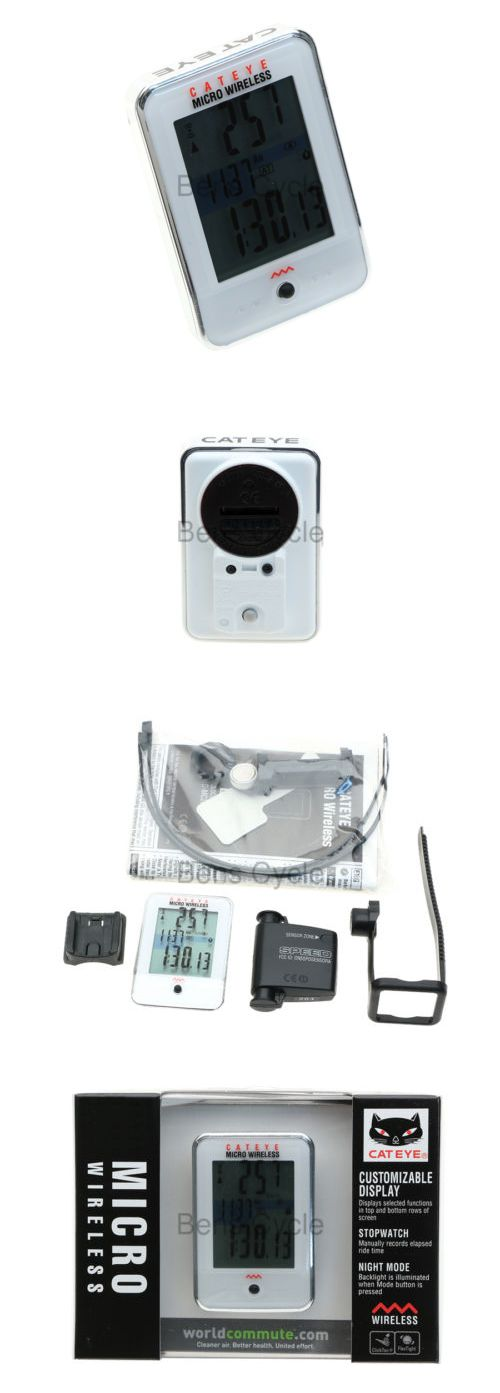 Cycle Computers and GPS 30108: Cateye Micro Wireless Cycling Computer White Cc-Mc200w New In Box W/Speed Censor BUY IT NOW ONLY: $31.87