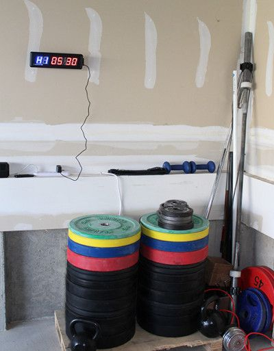 Best garage gym interval timer time to train pinterest