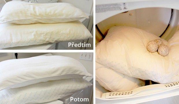 Jak vyprat a vybělit zažloutlé polštáře