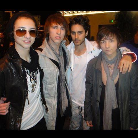 Sebastian, Remington, and Emerson with Jared Leto