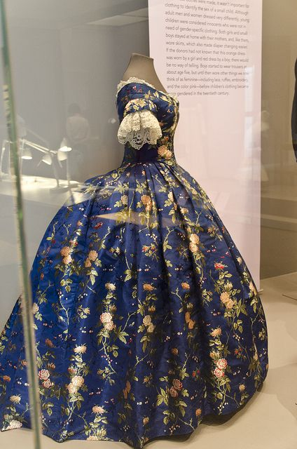 Philadelphia Museum of Art by mykeyII, via Flickr - c1850 Silk Brocade Dress, Philadelphia Museum of Art