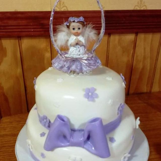#Christening #fondant #cake by Volován Productos #instacake #puq #Chile #VolovanProductos #Cakes #Cakestagram #SweetCake