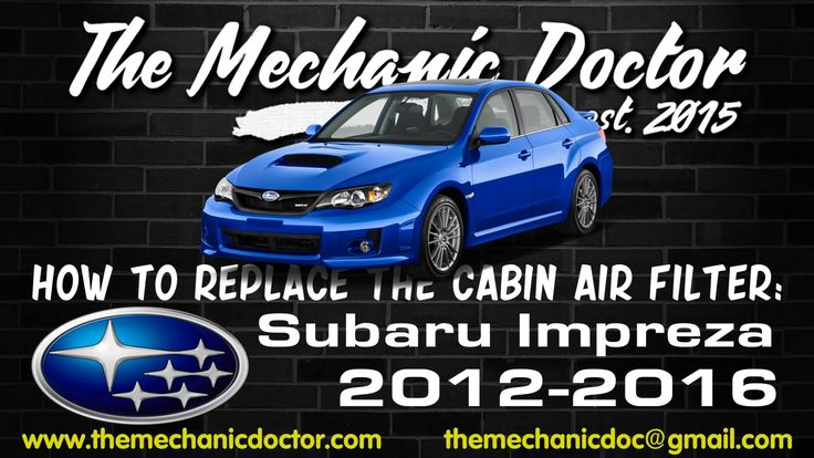 This video will show you step by step instructions on how to replace the cabin air filter on a Subaru Impreza 2012-2016.