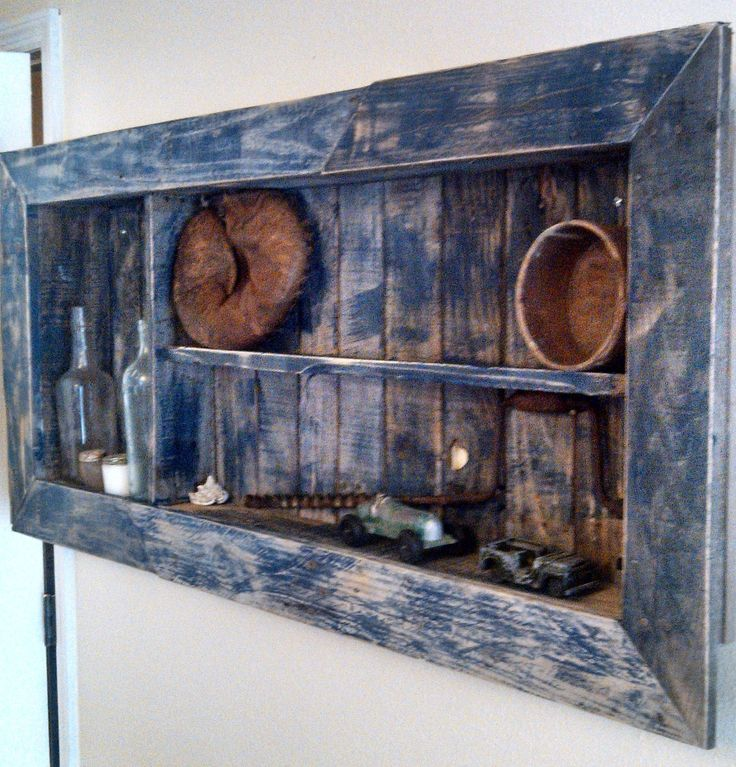 Shadow Box Made From Old Pallets Pallets Who Knew