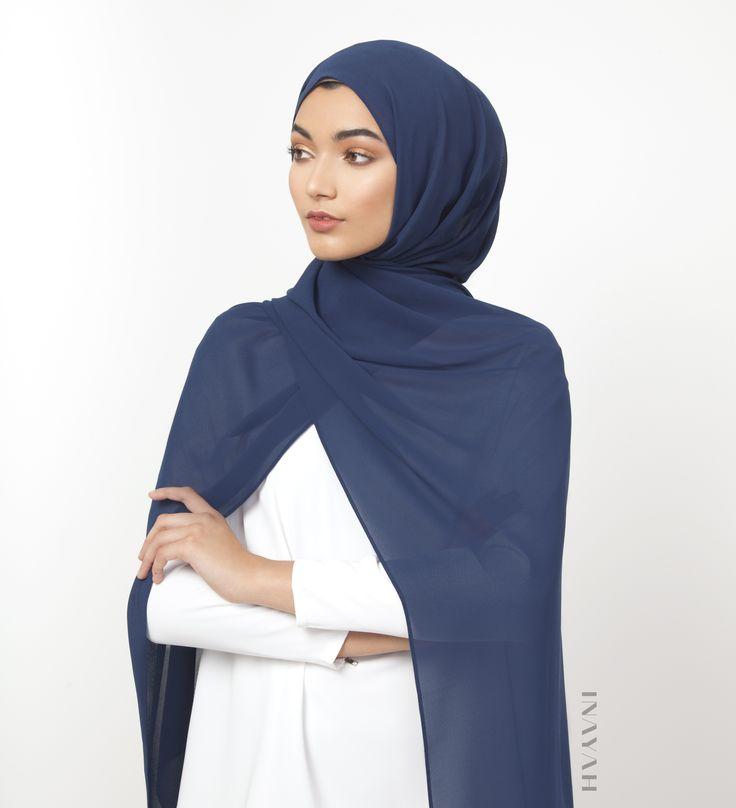 INAYAH | Medieval Blue Soft Crepe Hijab - www.inayah.co