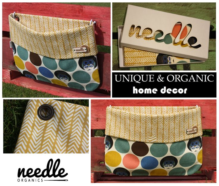 """WALLBAG """"Disco Spotlight""""- - decorate your home and use this bag to store the little things everyone has.  Handmade with 100% certified organic cotton."""