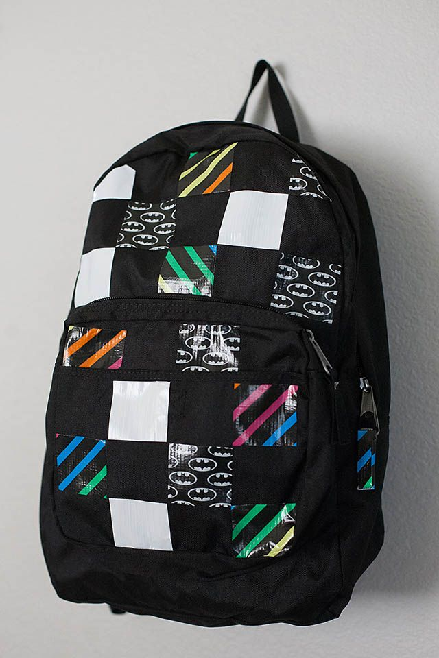 All for the Boys - aftb - DIY Duct Tape Personalized Backpacks