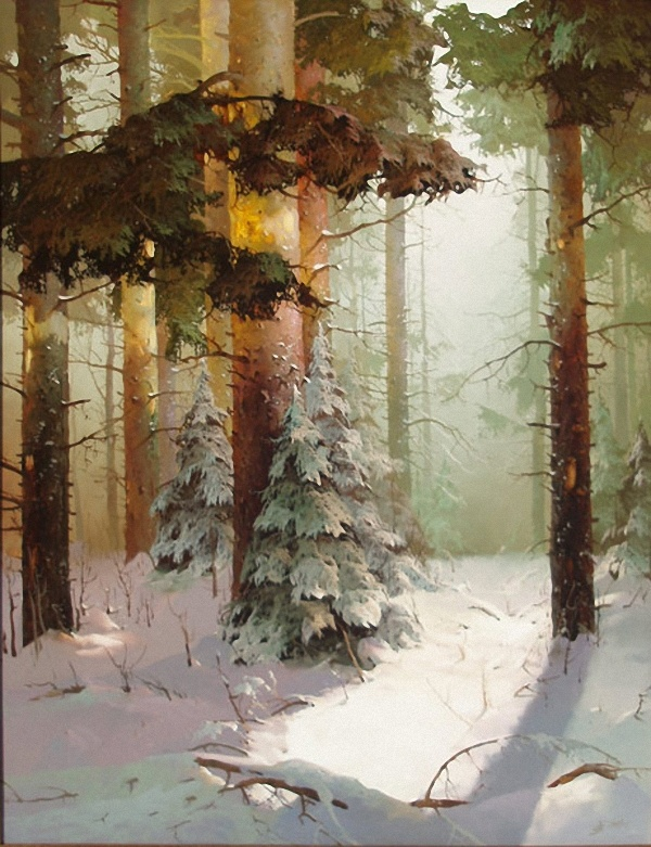 """""""Winter Forest"""" by Victor Bykov"""