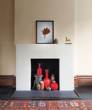 Non-functional fireplace decor