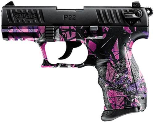This would be cute to do to my Walther P22 - Muddy Girl camo.