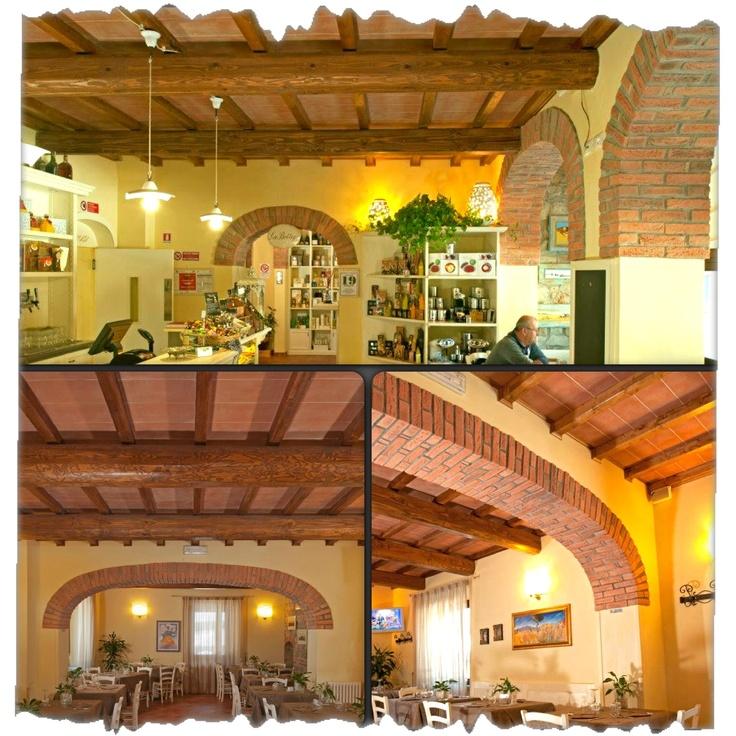 """#Sottotetto interno della #Locanda """"Fonte allo spino"""" alla Consuma, realizzata con tavelle in #cotto della misura  50x20x3,5. Tipica locanda #Tuscan Style"""
