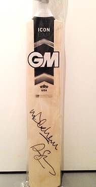 Cricket Bat Signed by Andrew Strauss and Michael Vaughan, proceeds to Mind - live until 3 March.