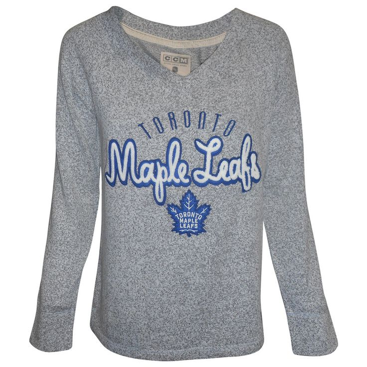 Toronto Maple Leafs CCM Ladies New Comfy Crew Sweater - shop.realsports