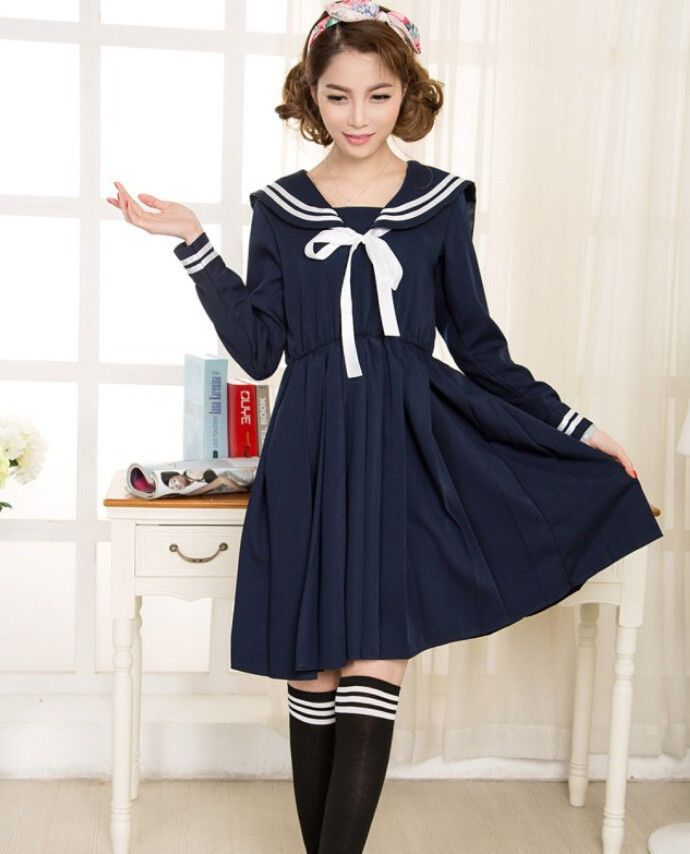 346702480 Japanese School Students Girl Uniform Japan Sailor Outfit Cosplay Costume  Ladies #Unbranded #Dress