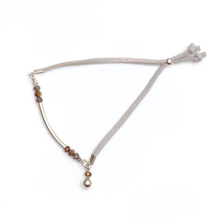 xada jewellery - Grey suede bar bracelet, $21.95 (http://www.xadajewellery.com/shop-by-collection/grey-suede-bar-bracelet/)