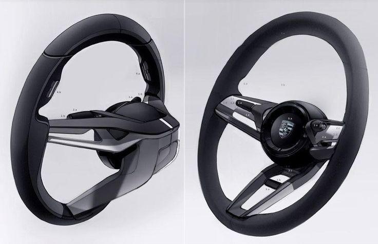 Porsche mission-e Steering wheel