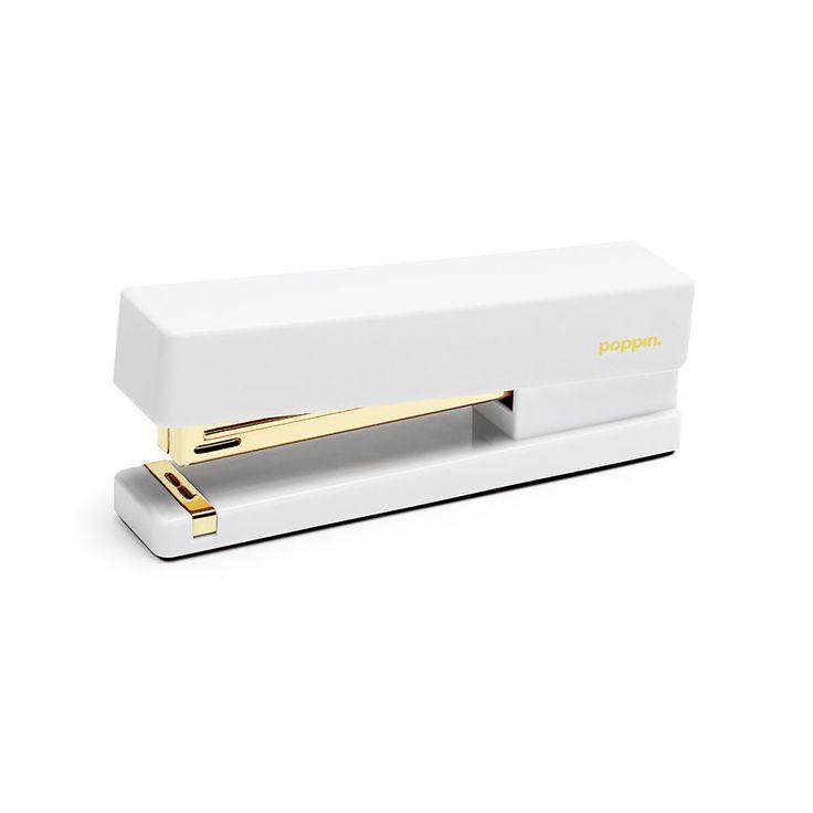 White + Gold Stapler from Poppin