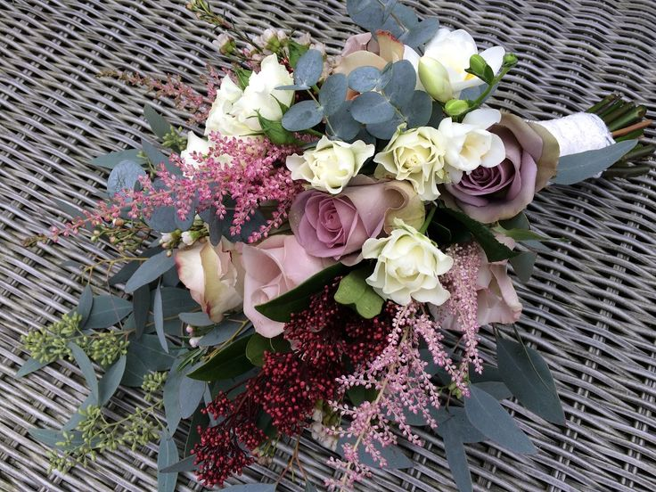 Choose trailing flowers in dusky colours for a natural look