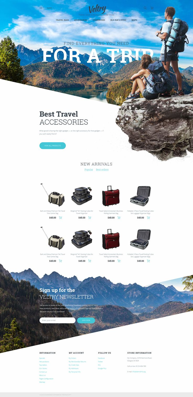 travel store PrestaShop theme http://www.templatemonster.com/prestashop-themes/veltry-prestashop-theme-58385.html