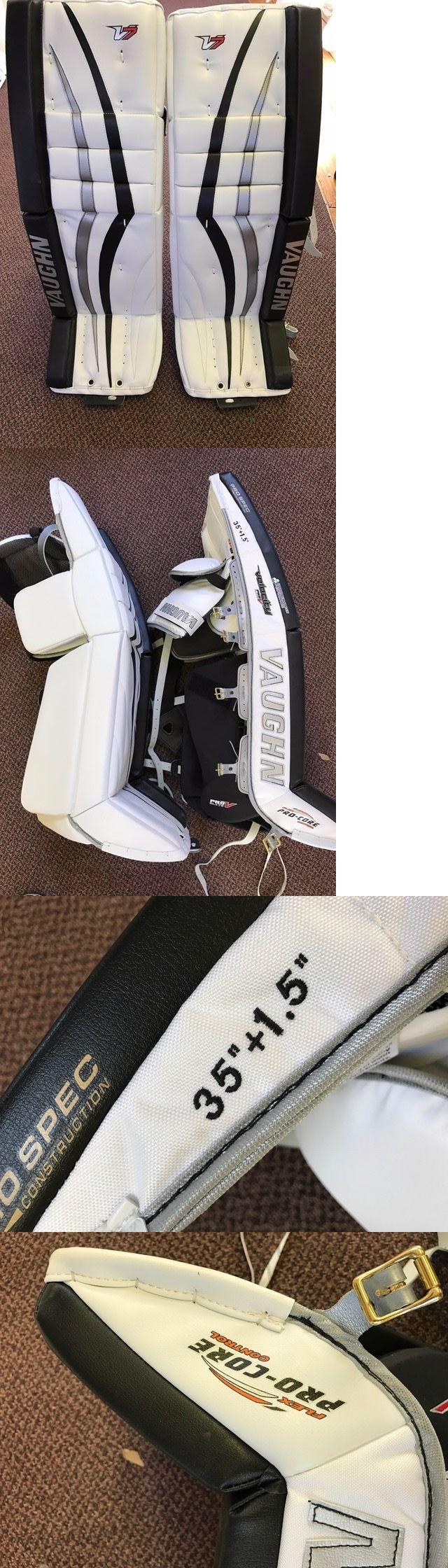 Leg Pads 79764: Custom Vaughn Velocity V7 Goalie / Goaltender Ice Hockey Pads -> BUY IT NOW ONLY: $1600 on eBay!