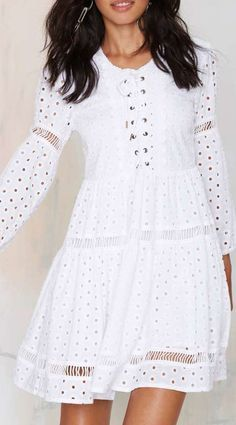 Nasty Gal Michela Eyelet Dress