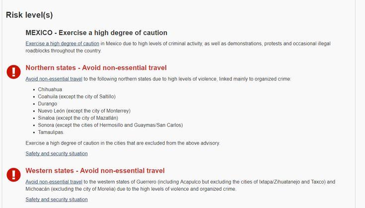 Emite gobierno de Canada advertencia para viajar a Chihuahua por altos indices de actividad del crimen organizado   El Puntero