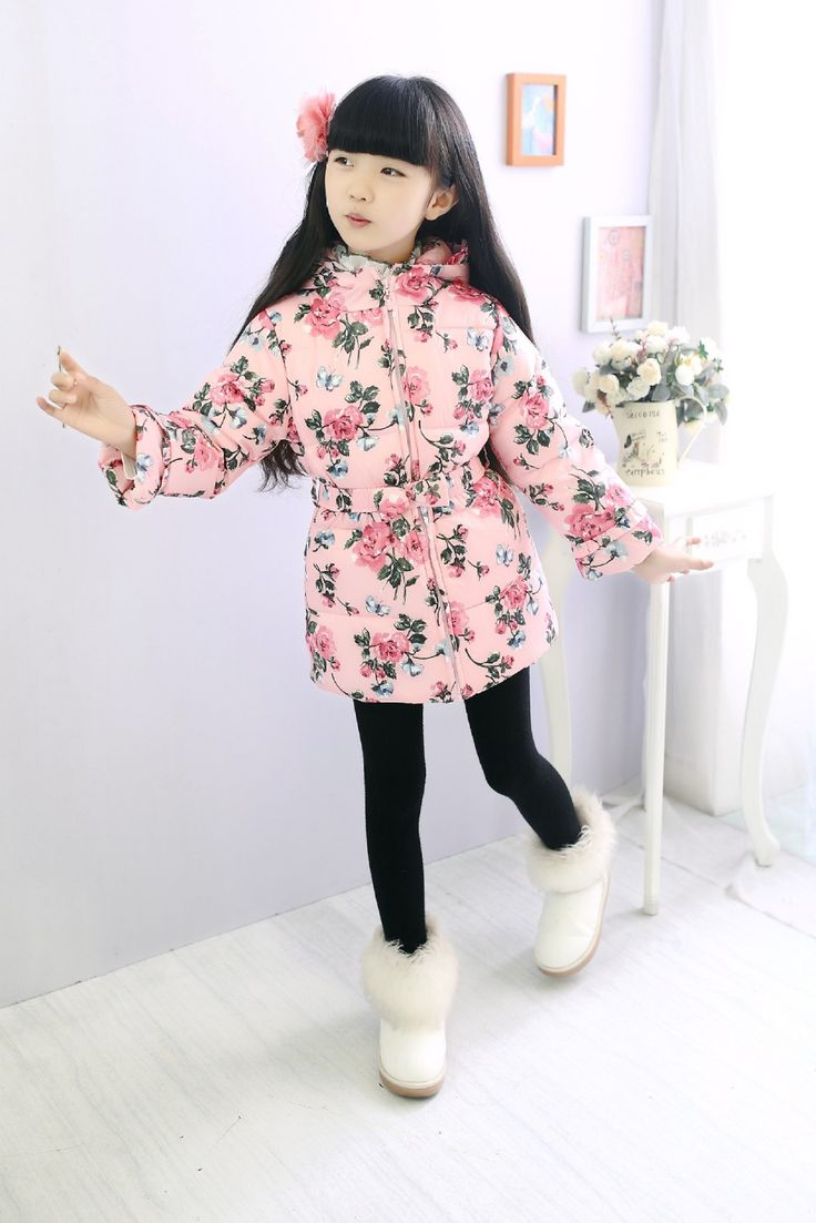 This item is now available in our shop.   Children Down Jacket New Girl Coat Cloth Medium Length Outerwear Children Coat Children Winter Thick Cotton-Padded - US $34.99 http://mybabykids.com/products/children-down-jacket-new-girl-coat-cloth-medium-length-outerwear-children-coat-children-winter-thick-cotton-padded/