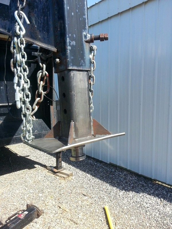 Pull your gooseneck trailer with a fifth wheel hitch by installing this square gooseneck-to-king-pin adapter - the inner tube fits in most standard, square gooseneck couplers outer tubes. Accessories like these are great for when you need to make a quick switch!