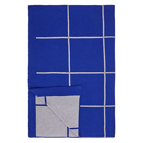 JOHN LEWIS. House by John Lewis Grid Throw in Cobalt. 150 x 200 cm, 100 % cotton. GBP 49.