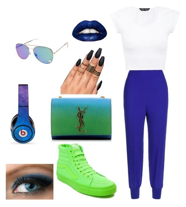 """Untitled #15"" by queenquanna1108 on Polyvore featuring STELLA McCARTNEY, Vans, Yves Saint Laurent and Beats by Dr. Dre"
